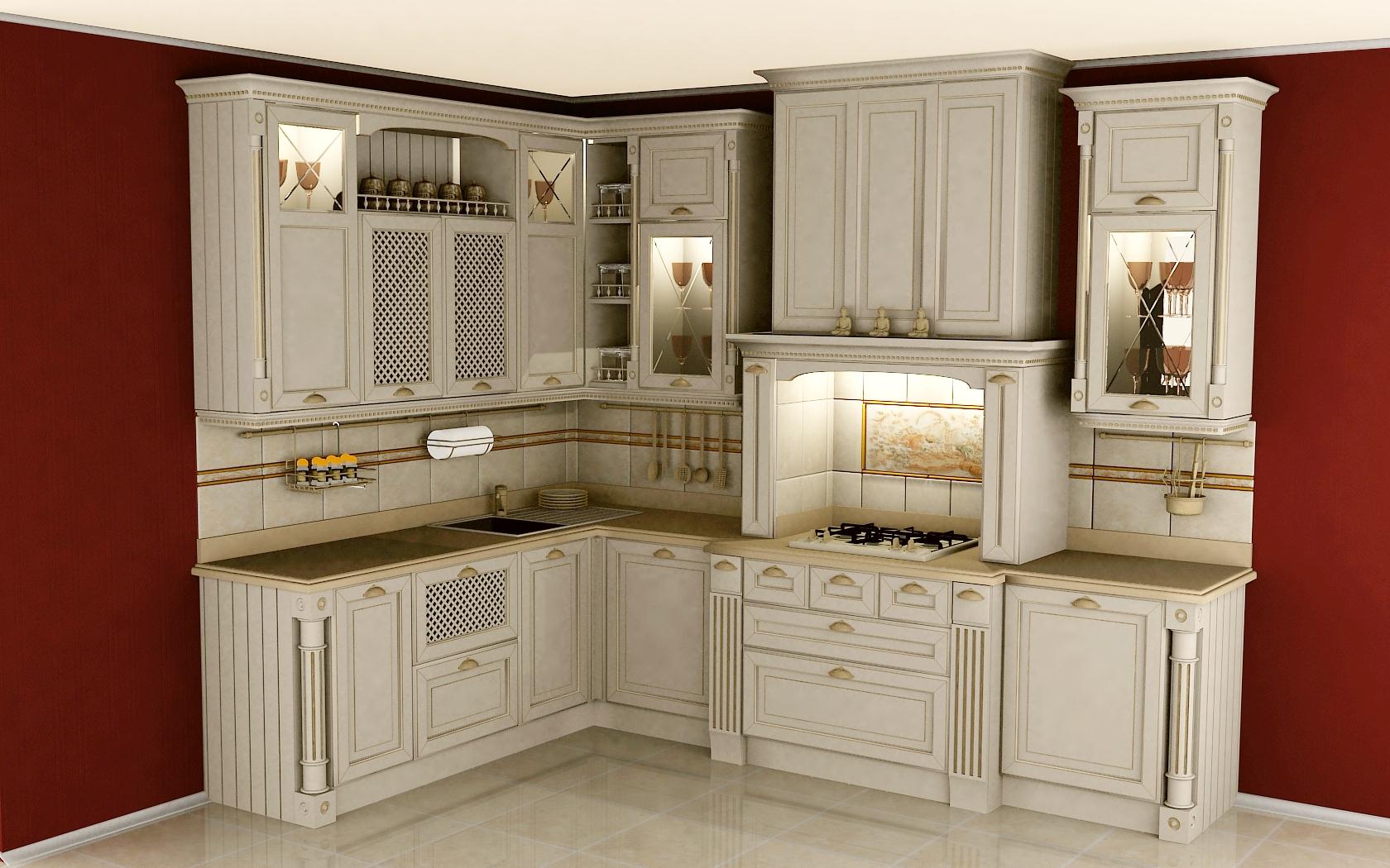 фото мебель классика для кухни